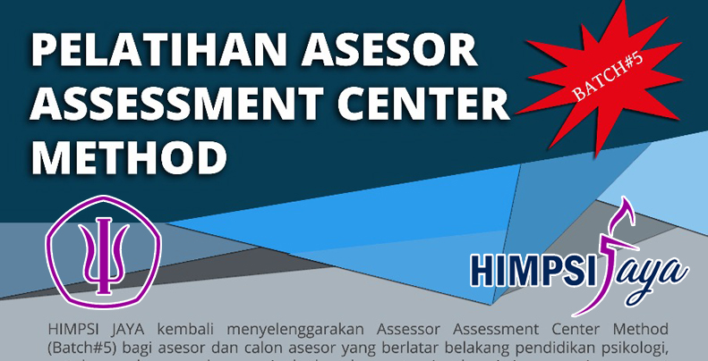 Pelatihan Asesor Assesment Center Method banner gede